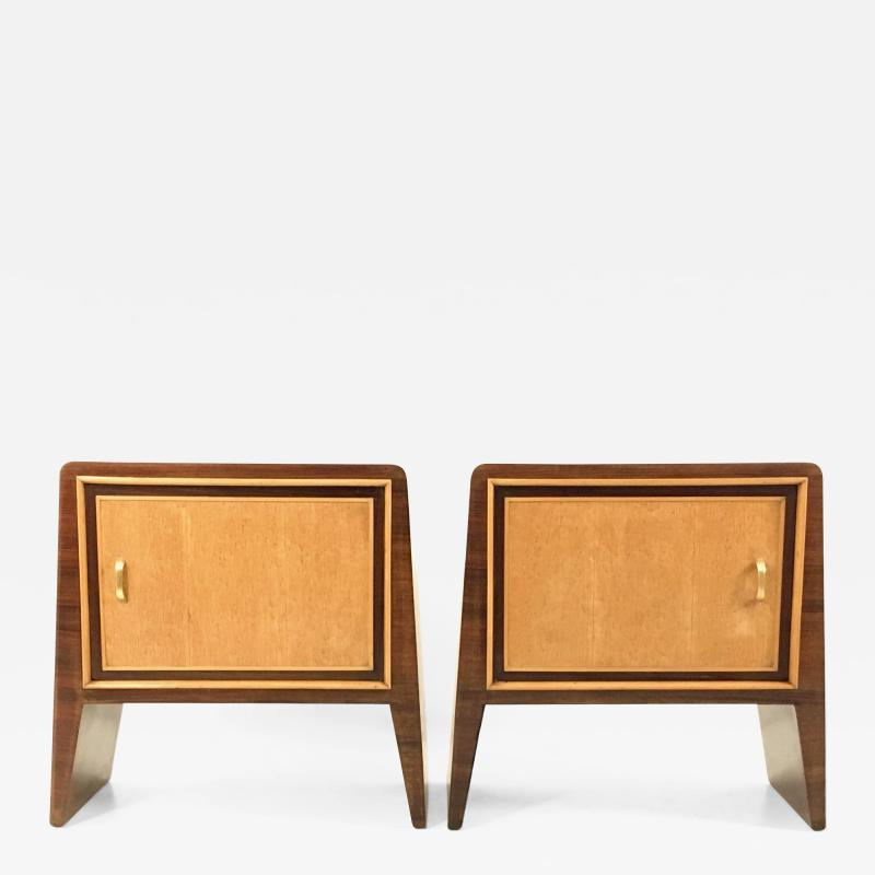Gugliemo Ulrich Pair of Stunning Nightstands by Guglielmo Ulrich Italy 1930s 1940s