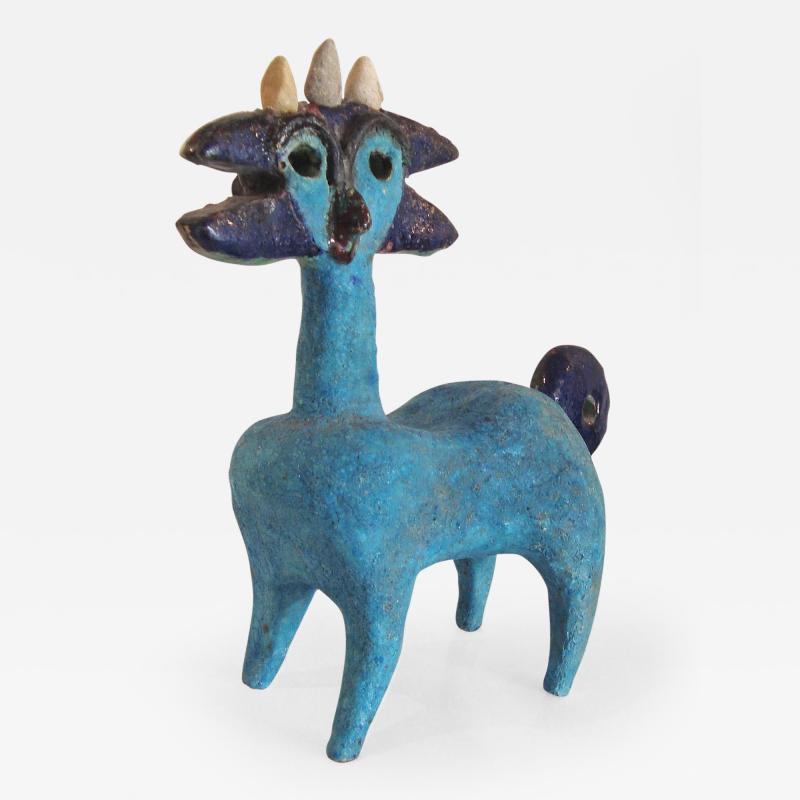 Guidette Carbonnel Earthenware Zoomorphic Idol by Guidette Carbonnel 1960 65