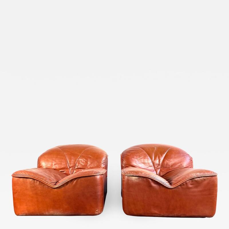 Guido Faleschini Vintage Guido Faleschini Leather Lounge Chairs a Pair