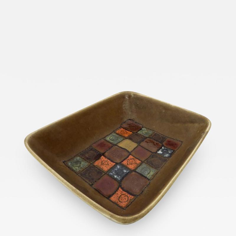 Guido Gambone Italian Ceramic Dish by Guido Gambone