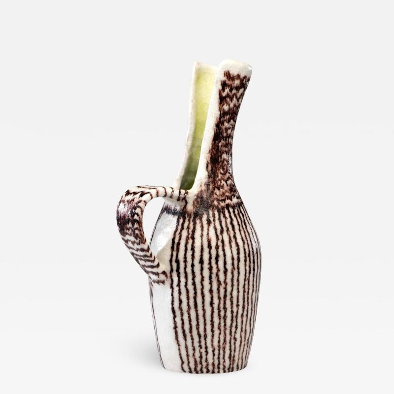 Guido Gambone Italian Ceramic Sculptural Pitcher by Guido Gambone