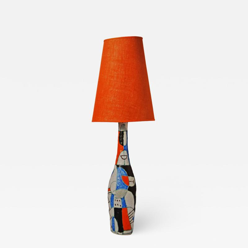 Guido Gambone Large Guido Gambone table lamp1950s