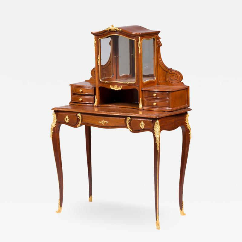 Guillaume Groh Ormolu mounted mahogany bonheur du jour by G Grohe
