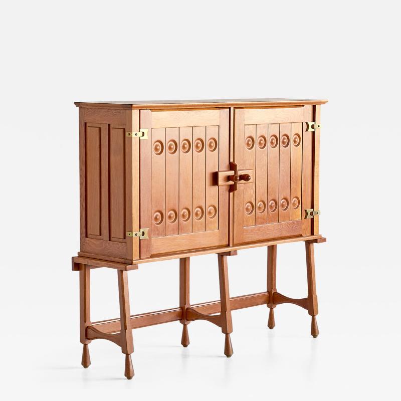 Guillerme et Chambron Guillerme et Chambron Cabinet in Solid Oak Votre Maison France 1960s