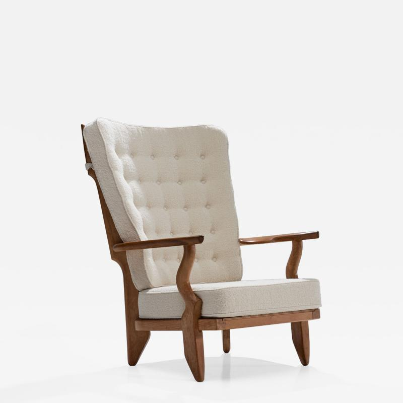 Guillerme et Chambron Guillerme et Chambron Grand Repos Lounge Chair France 1950s
