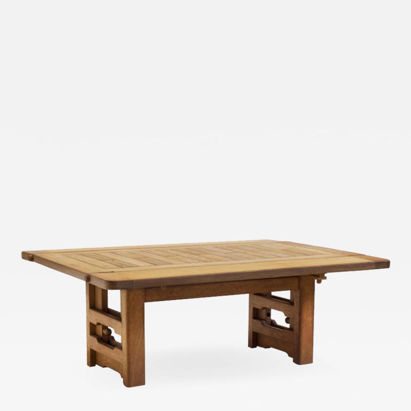 Guillerme et Chambron Guillerme et Chambron Height Adjustable Solid Oak Coffee Table 1960s