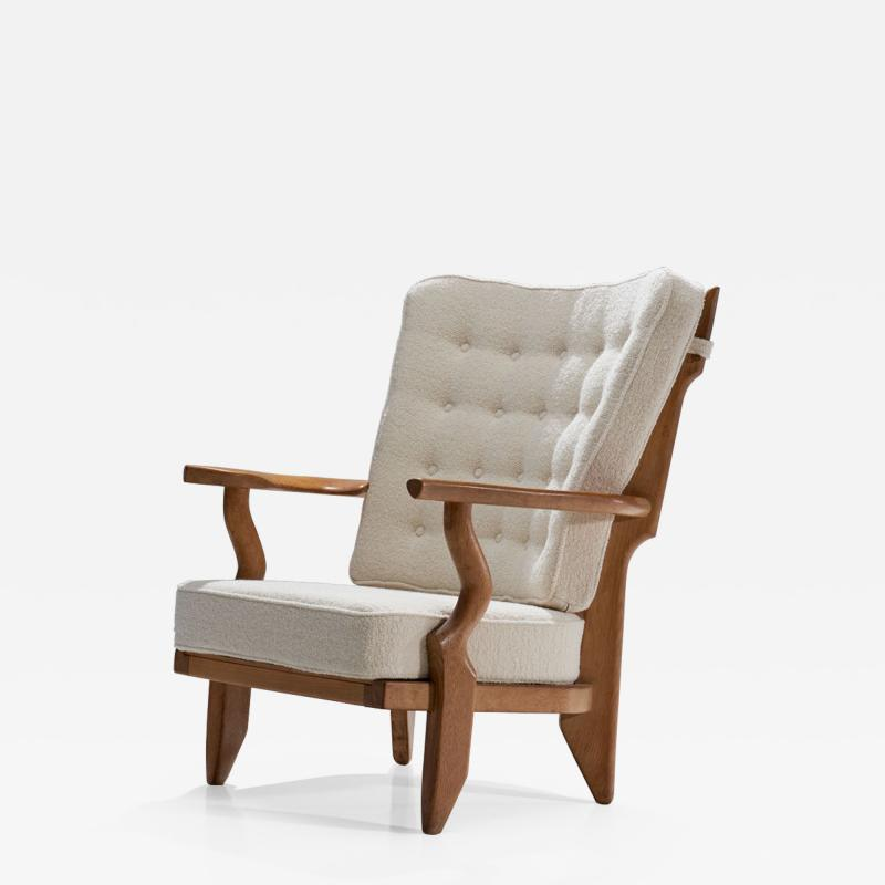 Guillerme et Chambron Guillerme et Chambron Petit Repos Lounge Chair France 1950s