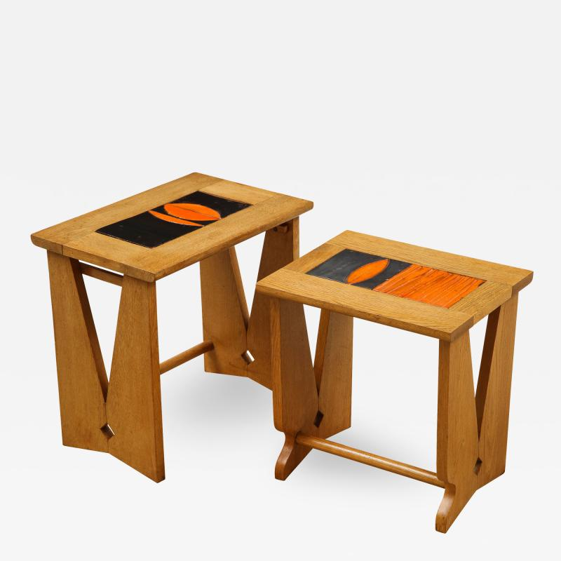 Guillerme et Chambron PAIR OF NESTING TABLES BY GUILLERME
