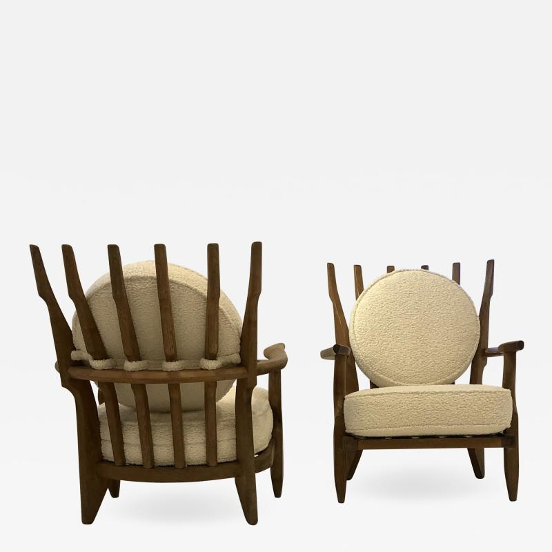 Guillerme et Chambron Pair of Mid Repos Arm Chairs By Guillerme et Chambron