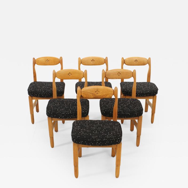 Guillerme et Chambron Set of Six Lorraine Dining Chairs by Guillerme et Chambron