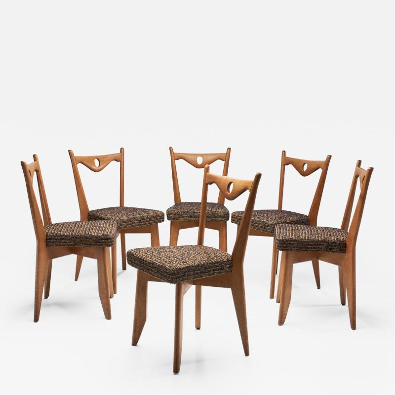 Guillerme et Chambron Six Dining Chairs by Guillerme et Chambron for Votre Maison France 1960s
