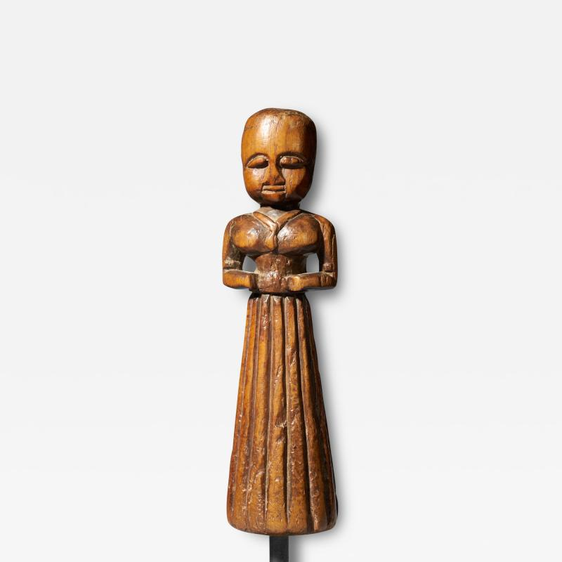 Gujurat Region North India Statue of a woman in a long skirt