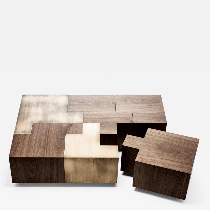 Gulla Jonsdottir Black Walnut Puzzle Table