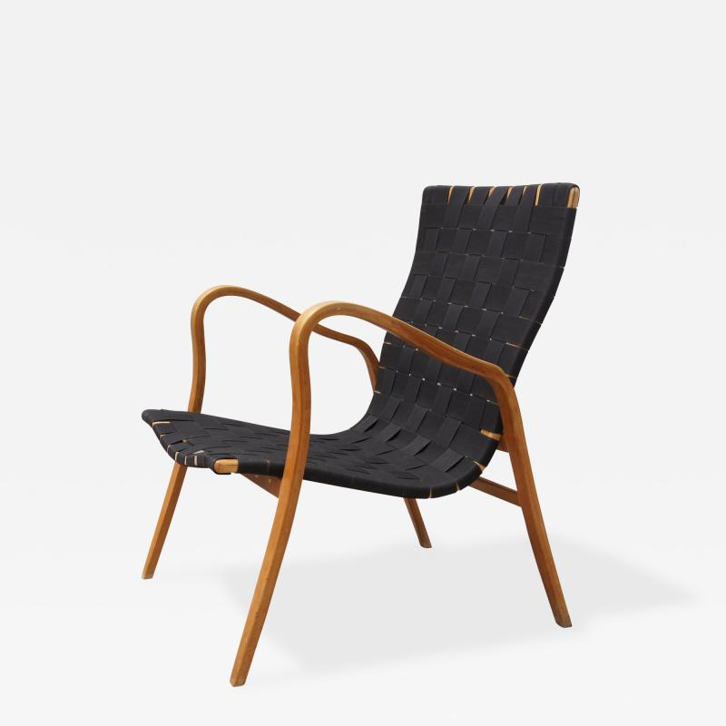 Gustav Axel Berg Birch Bentwood Easy Chair by Gustav Axel Berg