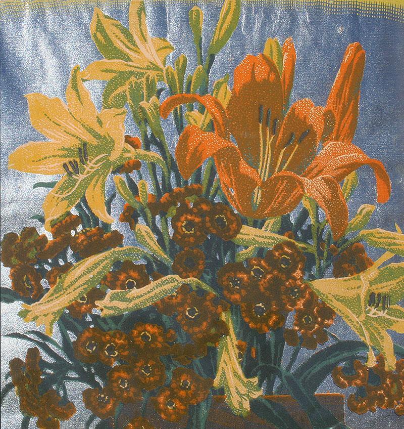 Gustave Baumann From a Hillside Garden