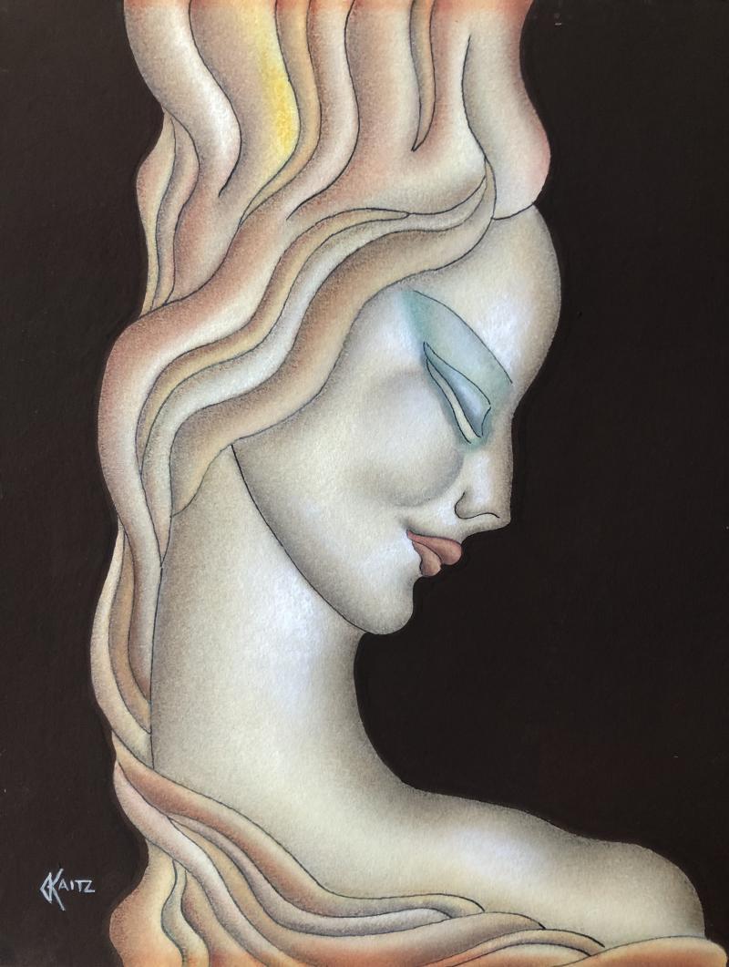 Gustave Kaitz Art Deco Woman