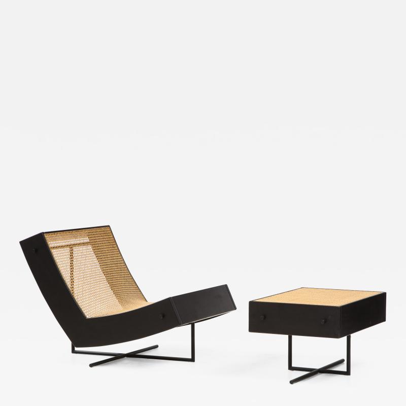Gustavo Bittencourt Contemporary Benjamin Lounge Chair with Ottoman by Gustavo Bittencourt Brazil