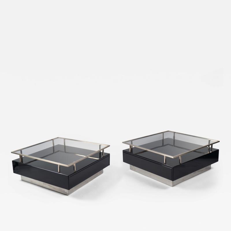 Guy LeFevre Pair of Low Tables by Guy Lefevre for Maison Jansen France 1970s