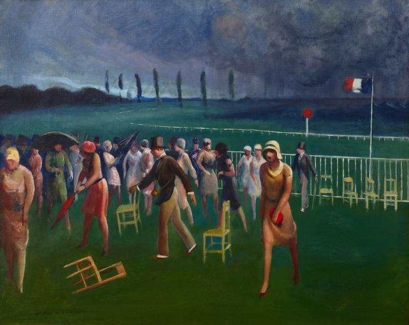 Guy Pene Du Bois Approaching Storm Racetrack