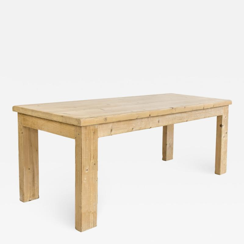 Guy Rey Millet Jean Prouv Pine Dining Table by Guy Rey Millet Jean Prouv circa 1970 France