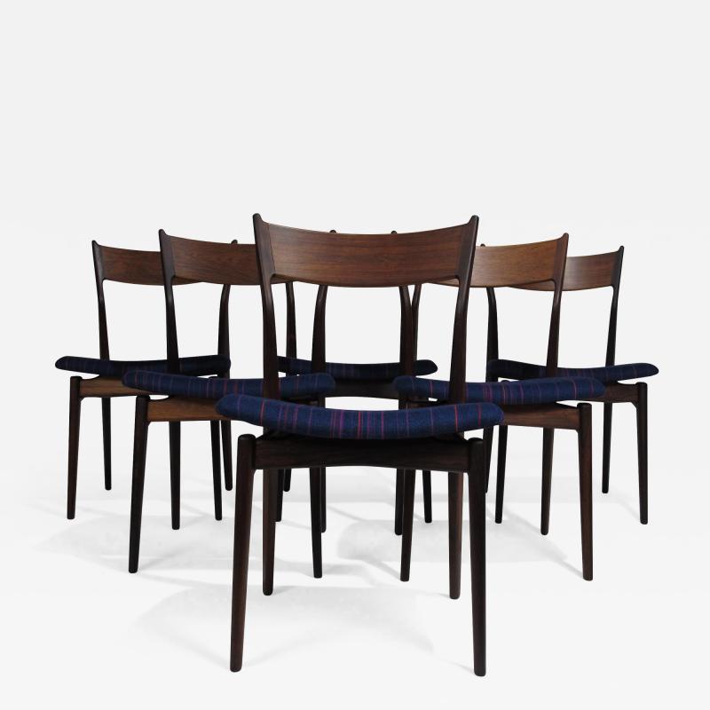 H P Hansen for Randers Danish Rosewood Dining Chairs