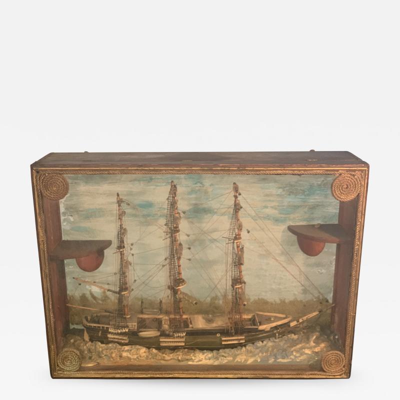 HANDMADE 1900S SHIP DIORAMA