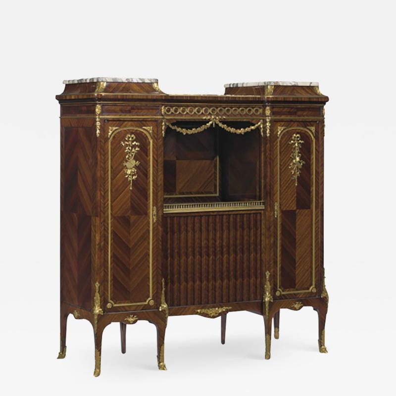 Haentges Fr res Gilt Bronze Mounted Br che Violette Marble Top Side Cabinet by Haentges Fr res