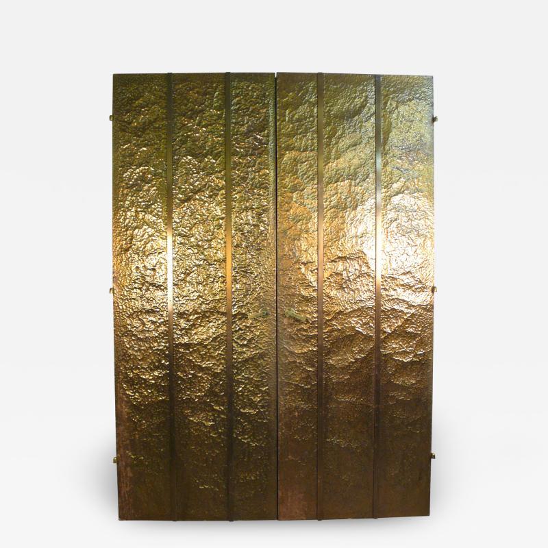 Hammered Brass Doors