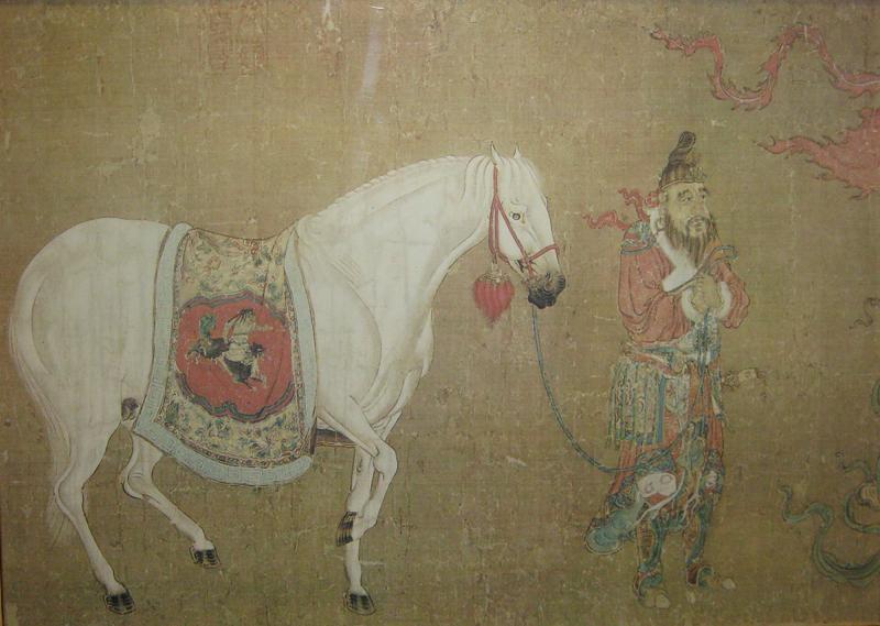 Han Kan Han Kan Chinese Framed Print of Tang Dynasty Painting
