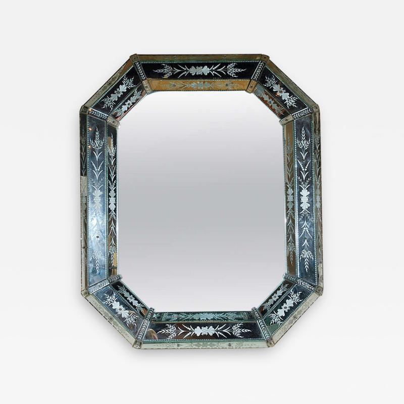 Hand Etched Octagonal Venetian Mirror