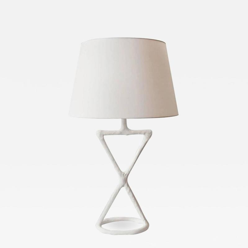 Handcrafted Plaster Infinitus Table Lamp