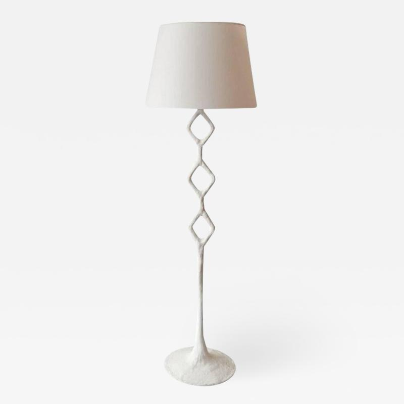 Handcrafted Plaster Rhombus Floor Lamp