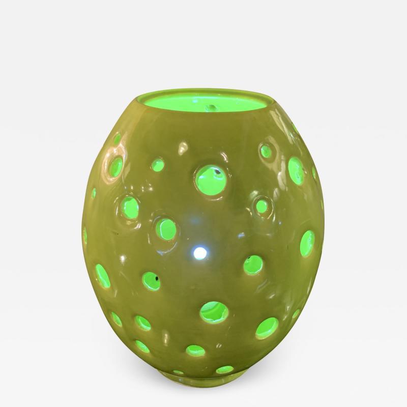 Handmade Yellow Egg Form Table Lamp