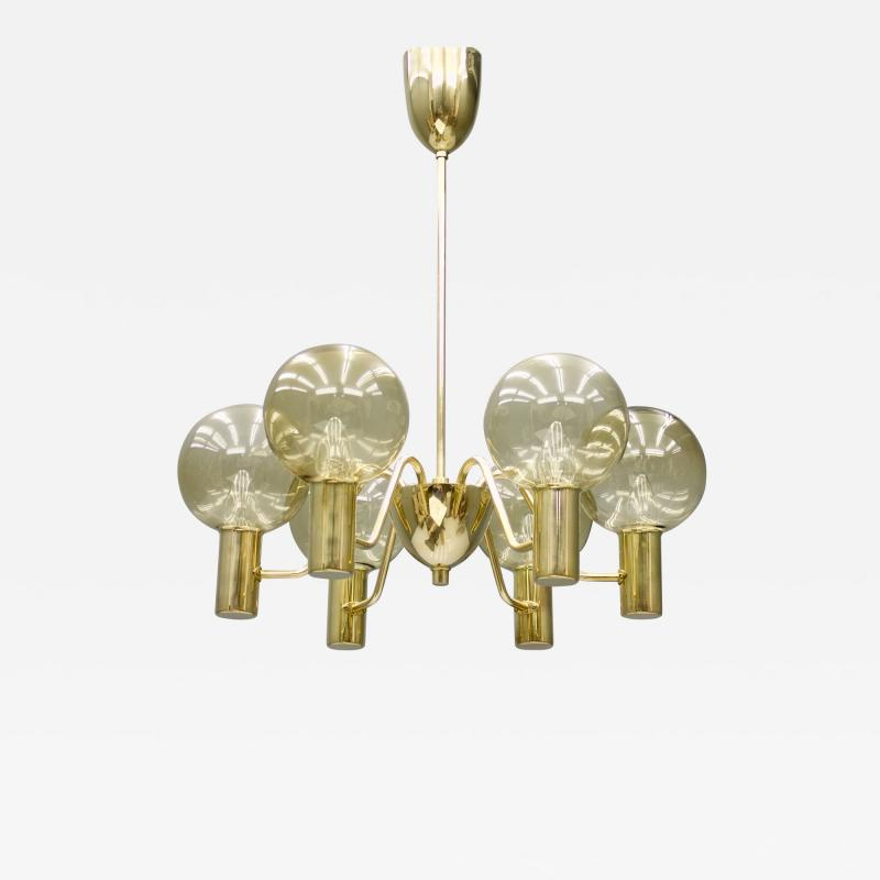 Hans Agne Jakobsson Brass and Glass Pendant by Hans Agne Jakobsson Patricia Sweden 1960s