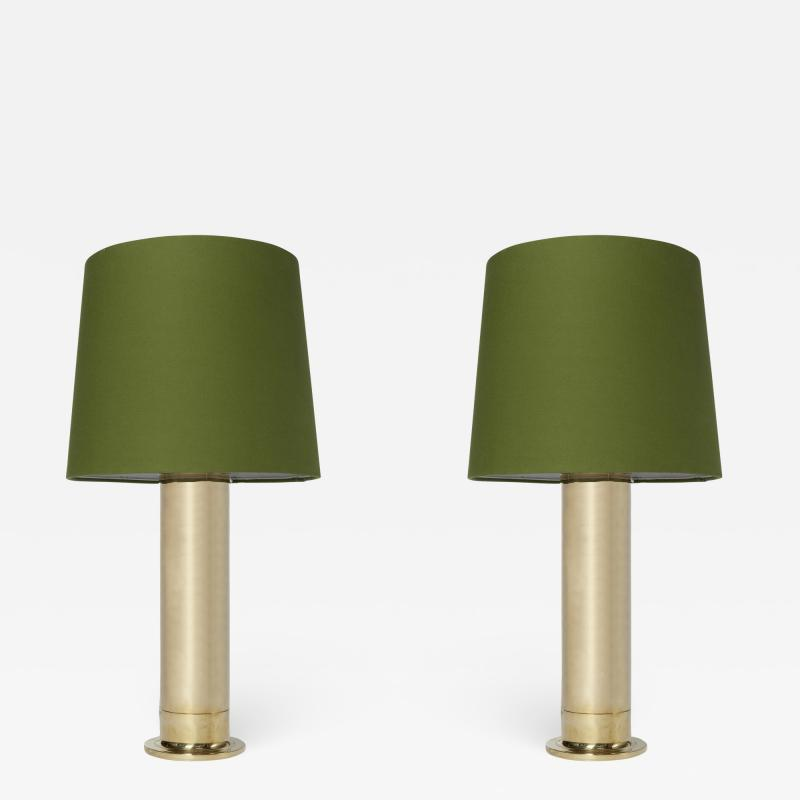Hans Agne Jakobsson Pair of B132 59 Brass Table Lamps by Hans Agne Jakobsson