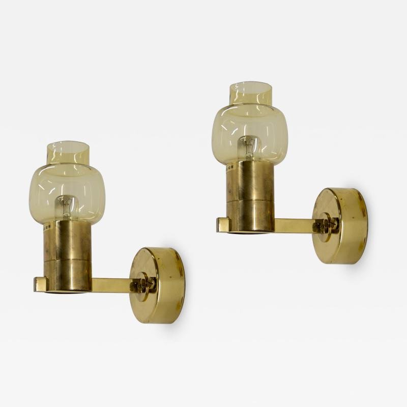 Hans Agne Jakobsson Pair of Wall Lamps by Hans Agne Jakobsson 1970s