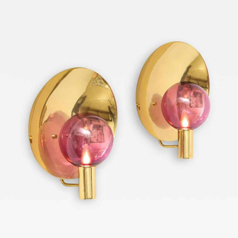 Hans Agne Jakobsson Pair of Wall Sconces V 180 by Hans Agne Jakobsson