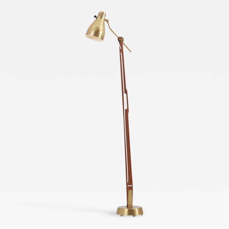 Hans Bergstr m Floor Lamp Model 544 by Hans Bergstr m for Atelj Lyktan Sweden 1950s