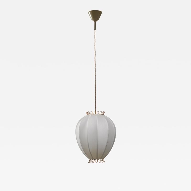 Hans Bergstr m Hans Bergstrom fabric and brass pendant lamp