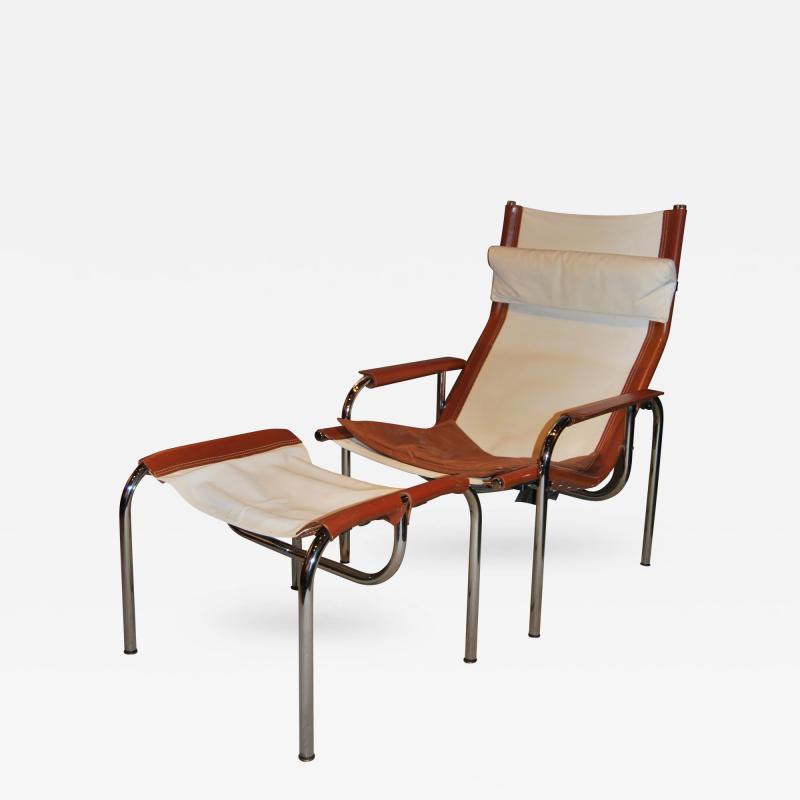 Hans Eichenberger Hans Eichenberger Lounge Chair and Ottoman Switzerland 1960s