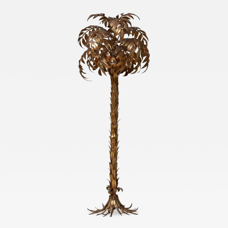Hans K gl Huge Gilt Metal Palm Tree Floor Lamp by Hans K gl