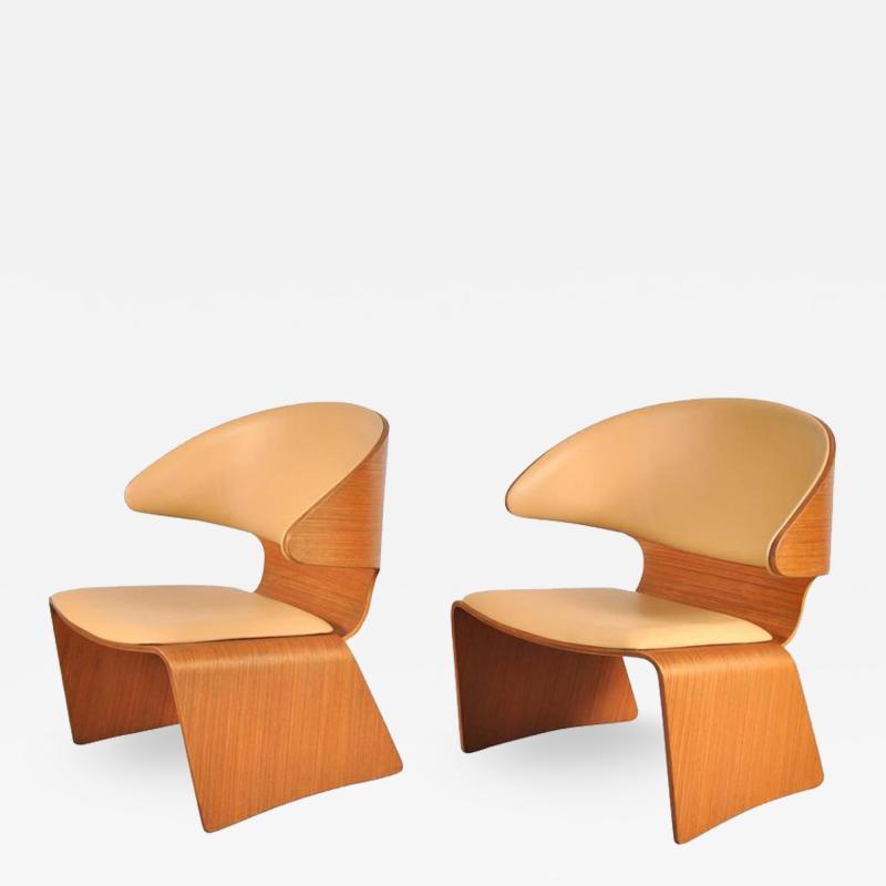 Hans Olsen 1960s Pair of Bikini Chairs by Hans Olsen for Frem Rojle Denmark
