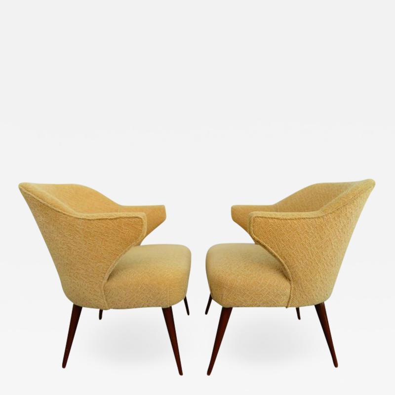 Hans Olsen Pair of Danish Modern Hans Olsen Style Teak Lounge Chair