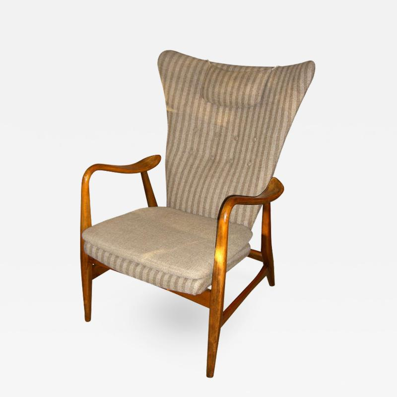 Hans Van de Bovenkamp Danish Modern Wingback Armchair by Bovenkamp
