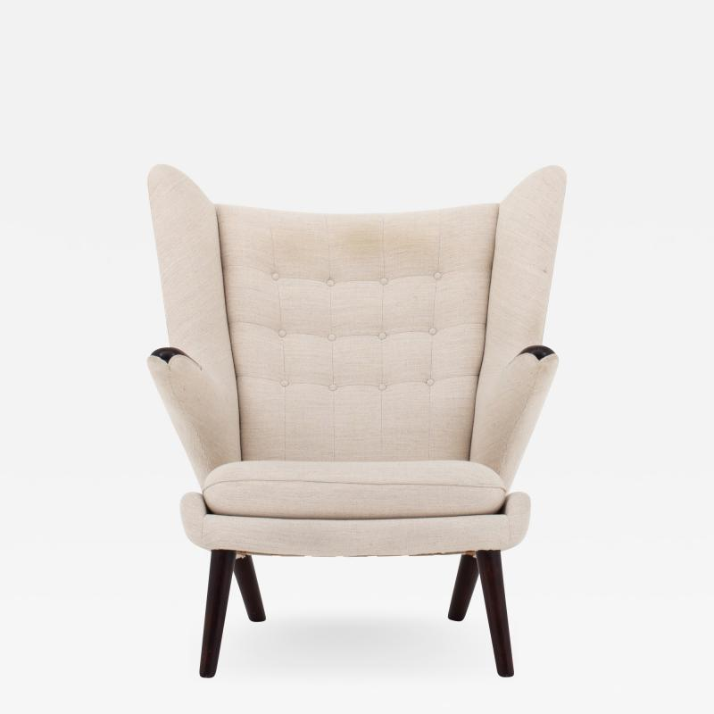 Hans Wegner AP 19 Papa Bear chair in wool
