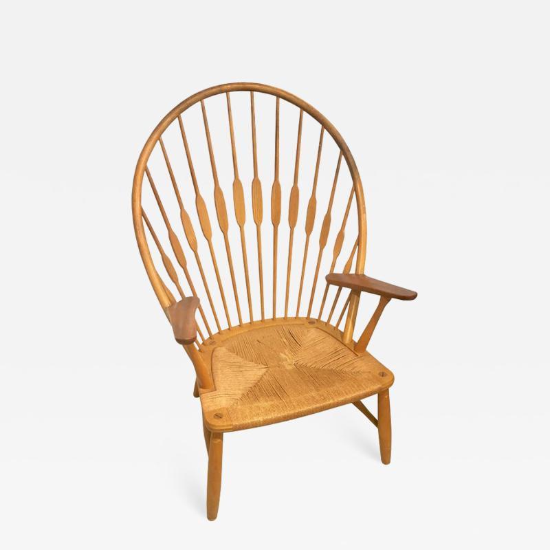 Hans Wegner Hans Wegner Peacock Chair in Ash and Teak with Woven Seat