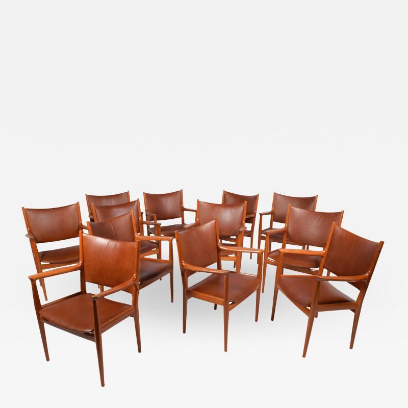 Hans Wegner Hans Wegner set of 12 arm chairs JH 513