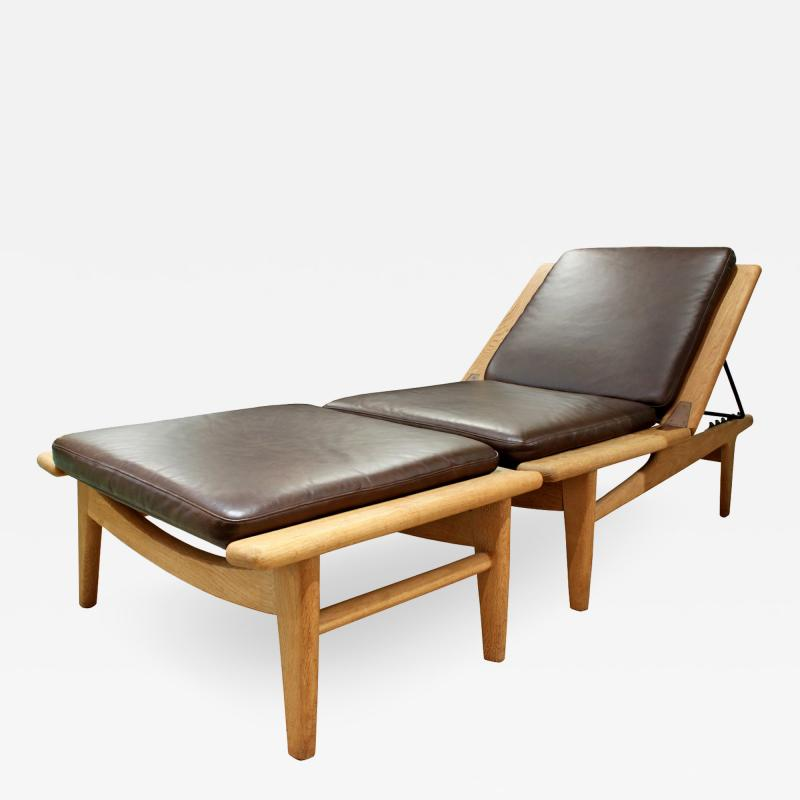 hans wegner meticulously crafted 2 piece chaise by hans wegner. Black Bedroom Furniture Sets. Home Design Ideas