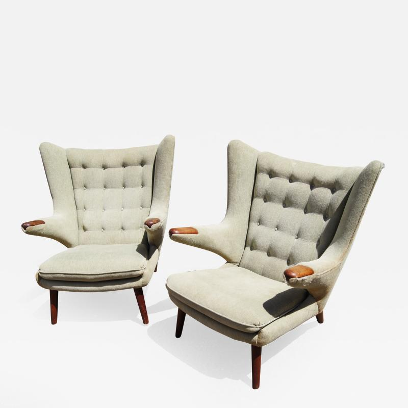 Hans Wegner Pair of Papa Bear Chairs by Hans Wegner for A P Stolen