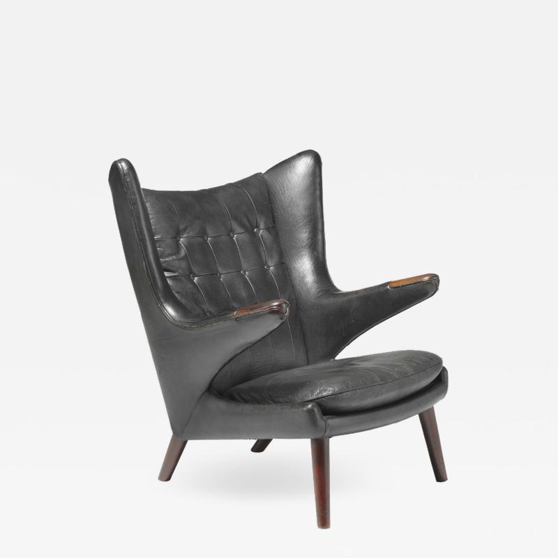 Hans Wegner Rare Rosewood Papa Bear Easy Chair